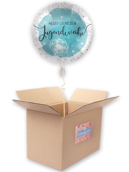 Jugendweihe Folienballon blau 43cm