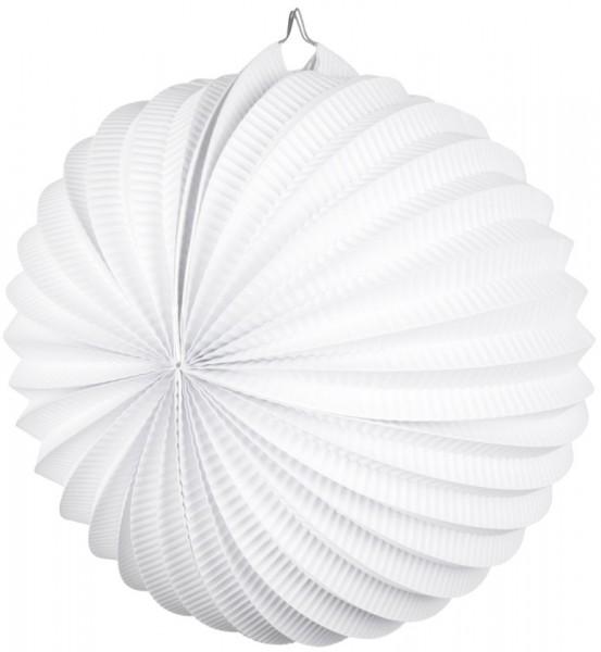 Weißer Gartenfest Papier Lampion 23cm