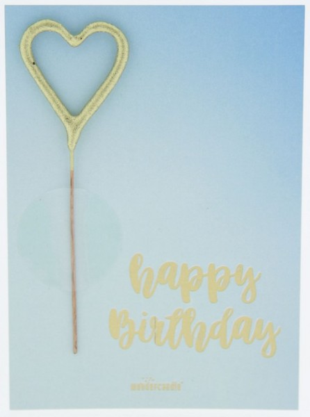 Blue Happy Birthday Wondercard