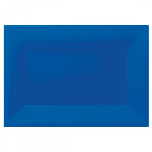3 platos de servir Amalia royal blue 33 x 23cm