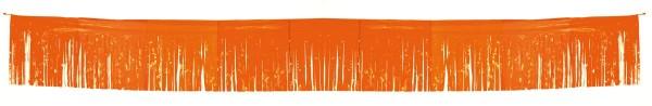 Fringe garland tinsel orange 6m