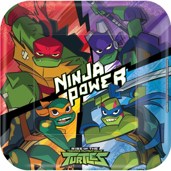 8 Ninja Turtles Adventure Teller 23cm