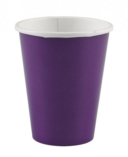 8 Pappbecher Partytime Violett 266ml