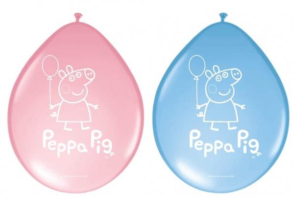 8 Latexballons Peppa Wutz 1