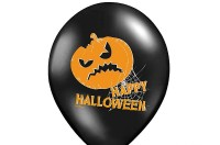6 Happy Halloween Kürbis Latexballons 30cm