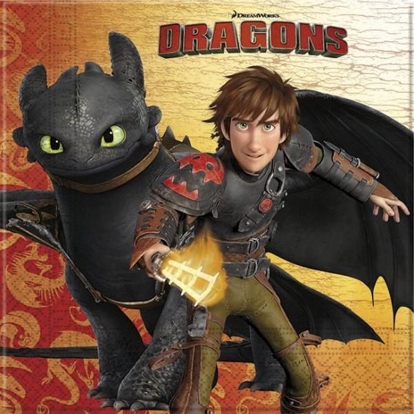 20 Dragons Servietten 33cm