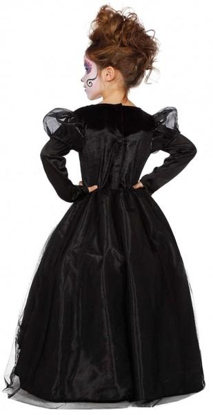 Déguisement pompeux jour des morts robe de bal pour enfant