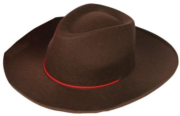 Brauner Wild Wester Cowboy Hut