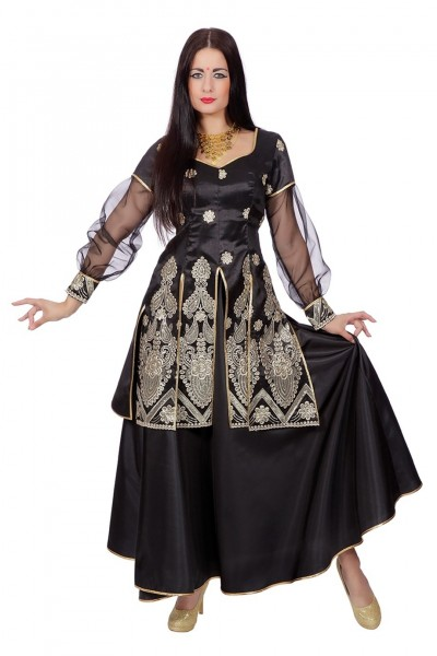 Aaliyah Bollywood Kleid In Schwarz