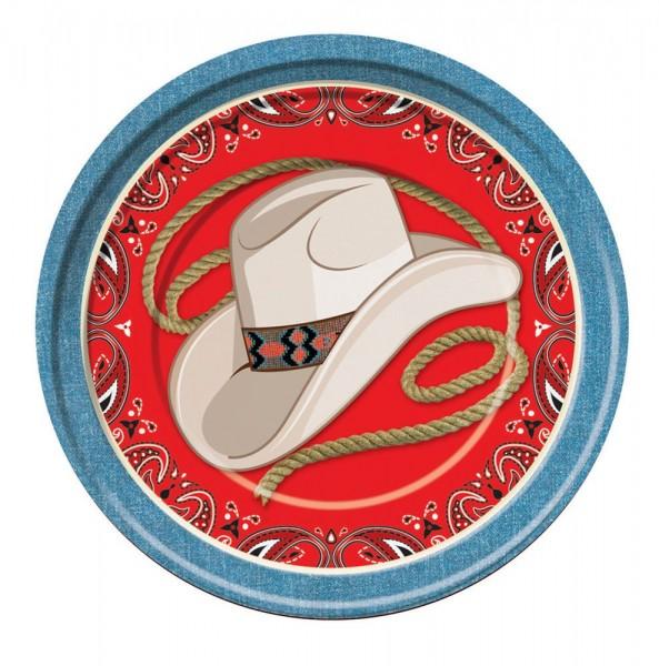 Wild West Party Teller 8 Stück