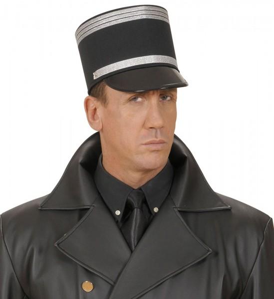 Glänzende Uniform Schirmmütze