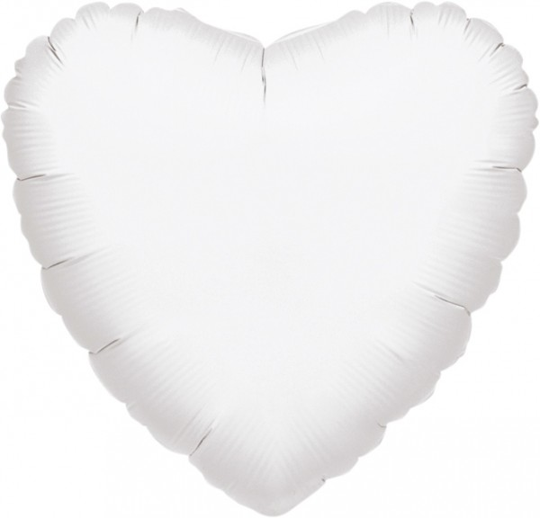 White Heart Balloon 46cm