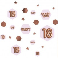 Konfetti Streudeko 18. Geburtstag rosegold 34g