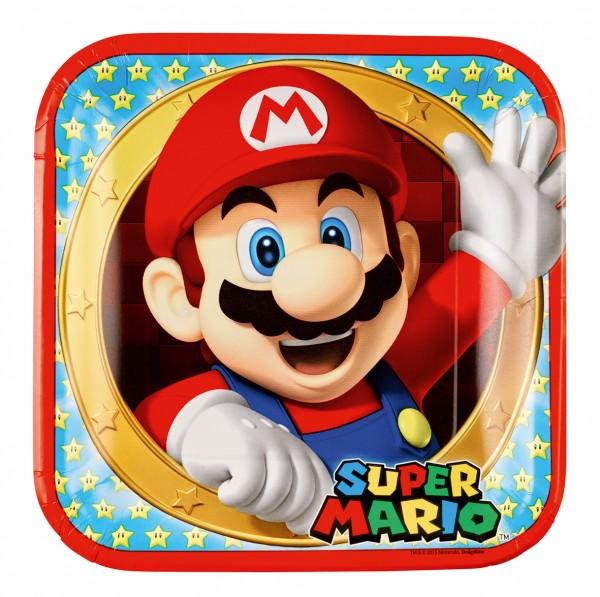 8 assiettes en papier Super Mario 23cm