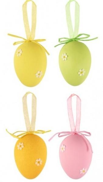 4 huevos de Pascua con flores 4cm
