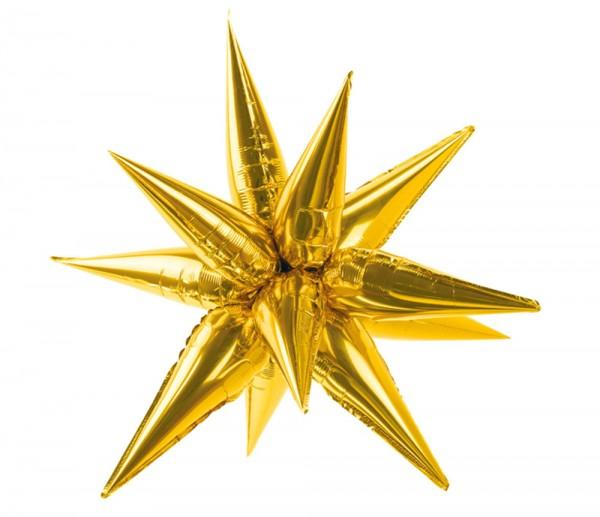 3D Stern Folienballon gold 95cm