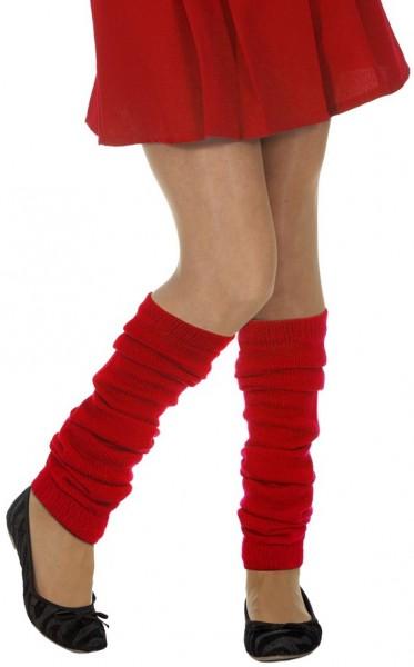 Rote Beinwärmer Stulpen