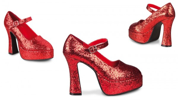 Glitzernde Disco Highheels Rot