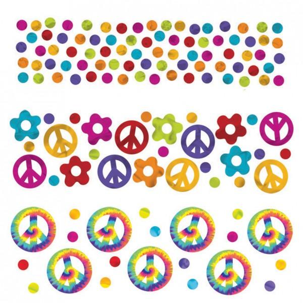 60er Jahre Hippie Streudeko Regenbogen 3er Set