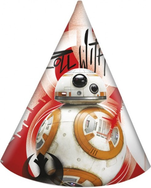 6 gorros de fiesta Star Wars Last Jedi 16cm