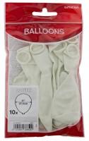 10 Weiße Luftballons Partydancer 27,5cm