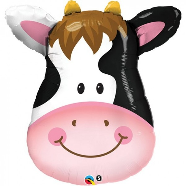 Ballon en aluminium de vache porte-bonheur 81cm
