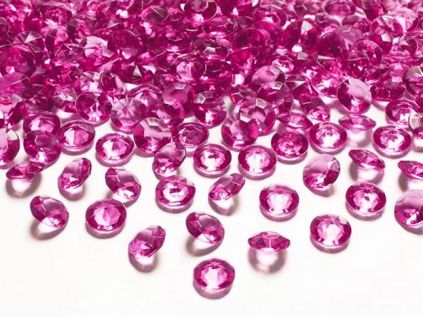 100 Diamanten Konfetti pink 12mm 1
