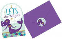 8 Shellebrate Meerjungfrau Einladungskarten