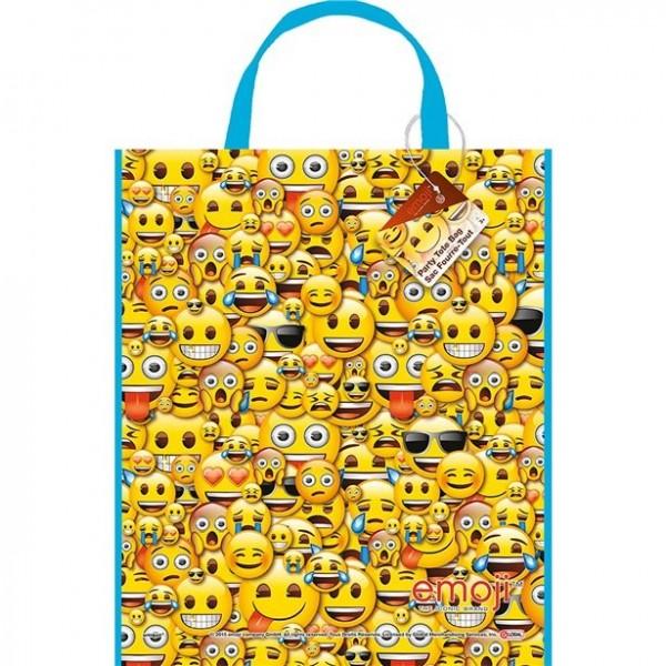 Bolsa de regalo de plástico Emoji 33cm