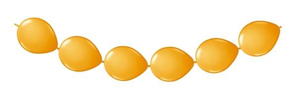 8 Ballons orange für eine Girlande 3m