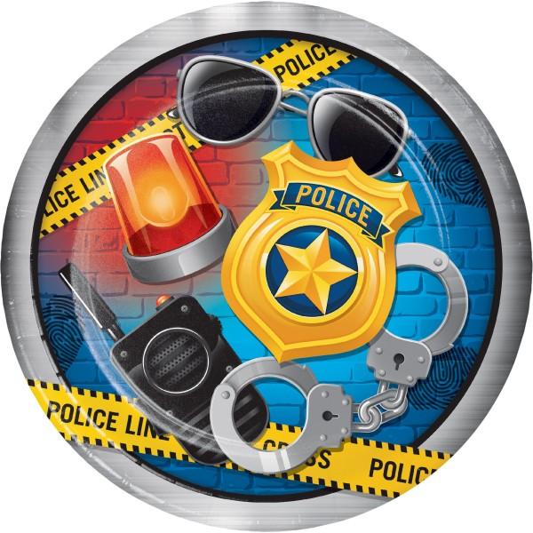 8 Polizei Revier Pappteller 23cm