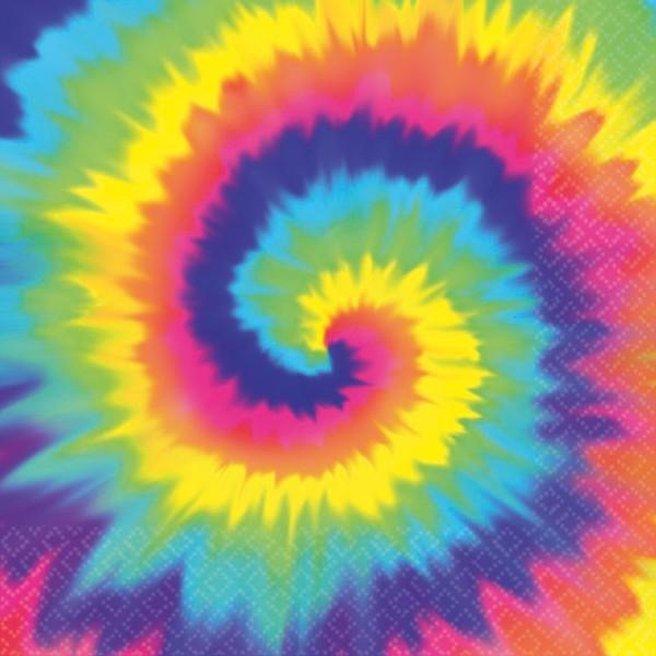 16 Hippie Servietten Regenbogen 25 x 25cm