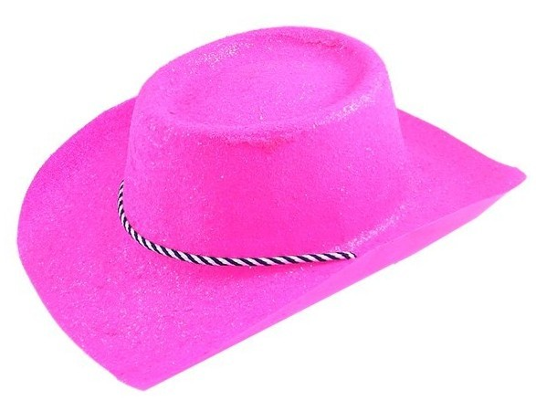Neon pink cowboy hat rodeo