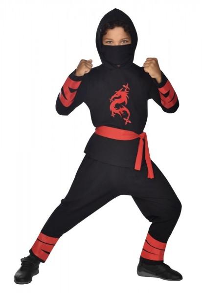 Ninja Kinderkostüm Schwarz 4