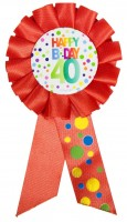 Splendid 40th Birthday Button
