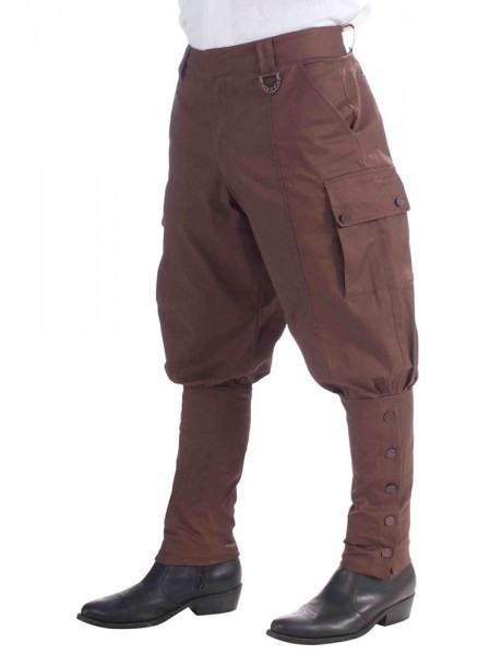Braune Steampunk Herrenhose Bruno