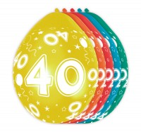 5 Ballons Big 40 30cm