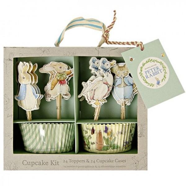 Ensemble de cupcakes Peter Bunny 48 pièces