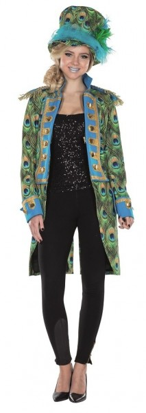 Philine peacock feather tailcoat for women