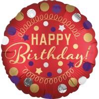 Birthday Star Folienballon 45cm