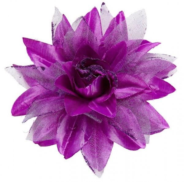 Violette Floria Blumen Haarspange