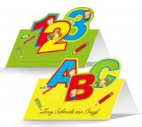 24 Schulstart Tischkarten 10 x 7,5cm