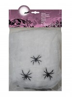 Creepy Spider Night Deko Spinnennetz Weiß 20g