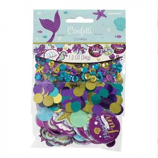 Purple mermaid glitter sprinkle decoration 34g