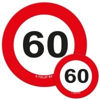 Verkehrsschild 60 Streudeko