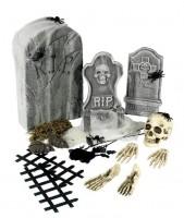 Friedhofset Dunkles Grauen 24-teilig