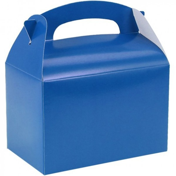 Gift box rectangular blue 15cm