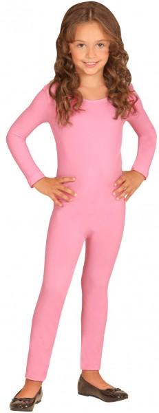 Body infantil de manga larga rosa