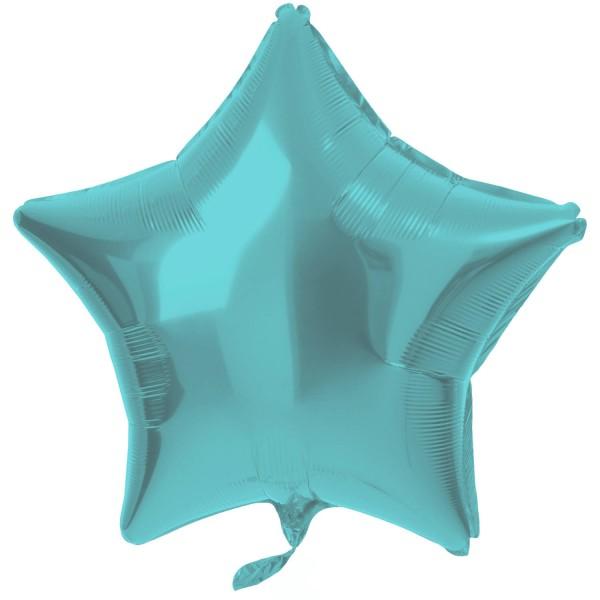 Stern Folienballon Crystal aqua 48cm