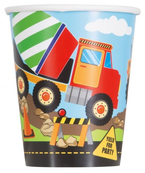 8 gobelets en papier de chantier Fun Ahead 266 ml